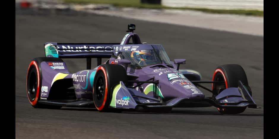 Indycar: Romain Grosjean 2e du GP d'Indianapolis derrière Rinus VeeKay