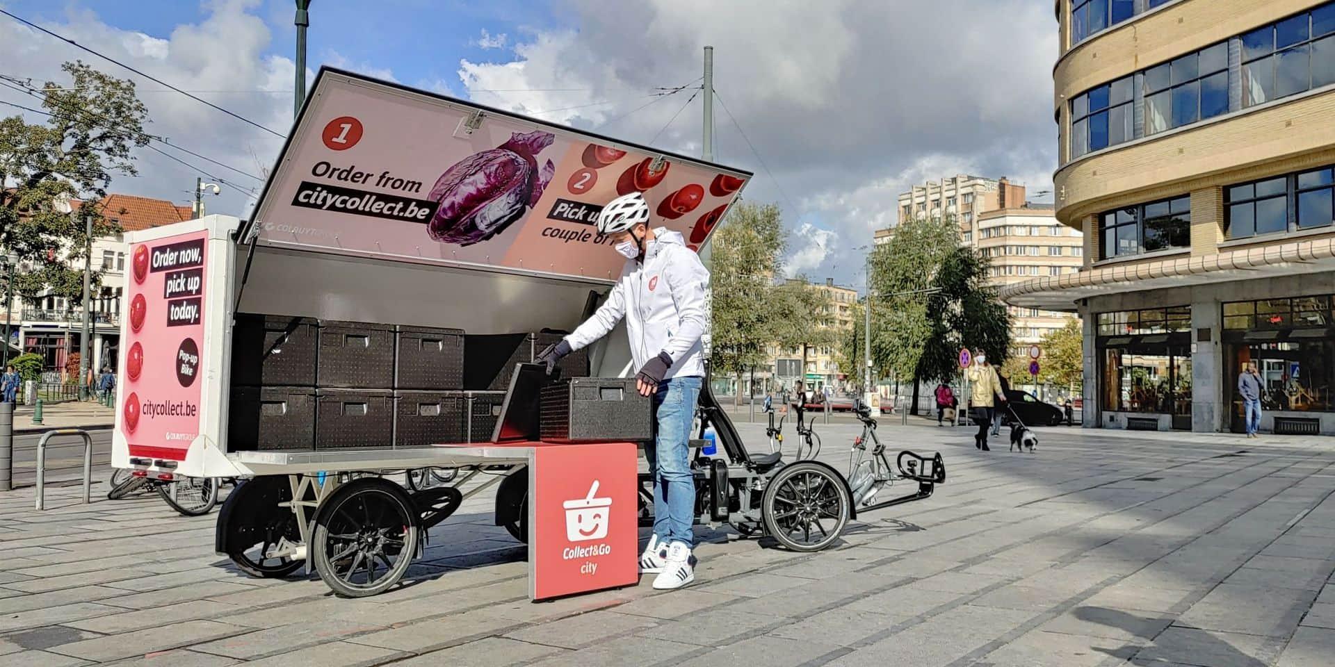 Collect & Go City livre les courses de ses clients par vélo cargo jusqu'au centre de Bruxelles