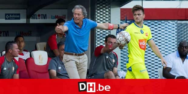 Standard's head coach Michel Preud'homme and Gent's Thomas Foket reacts during the Jupiler Pro League match between Standard de Liege and KAA Gent, in Liege, Friday 27 July 2018, on the first day of the Jupiler Pro League, the Belgian soccer championship season 2018-2019. BELGA PHOTO JASPER JACOBS