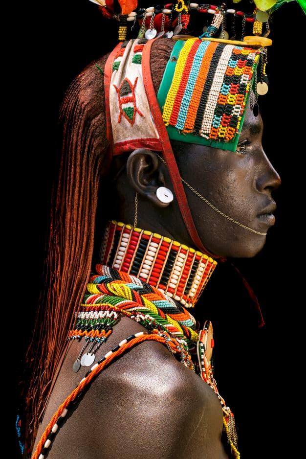 Un guerrier Sambru au Kenya