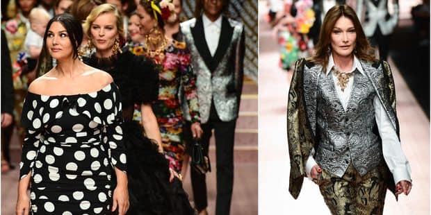 Monica Bellucci et Carla Bruni en vedette du défilé Dolce & Gabbana - La DH