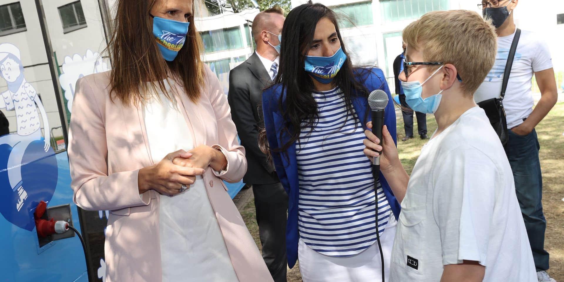 La première ministre Sophie Wilmès à la rencontre des jeunes du Peterbos à Anderlecht