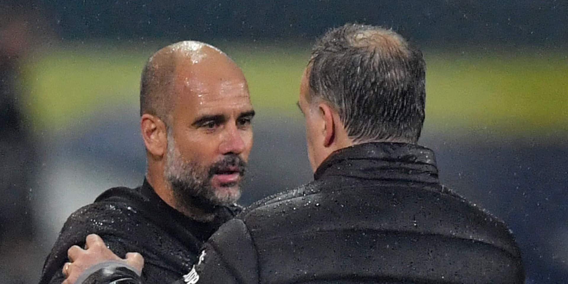 """Pep Guardiola tenu en échec par son modèle Bielsa : """"Il est peut-être plus intelligent que moi"""""""