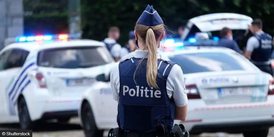 Policière de la police belge, en 2021