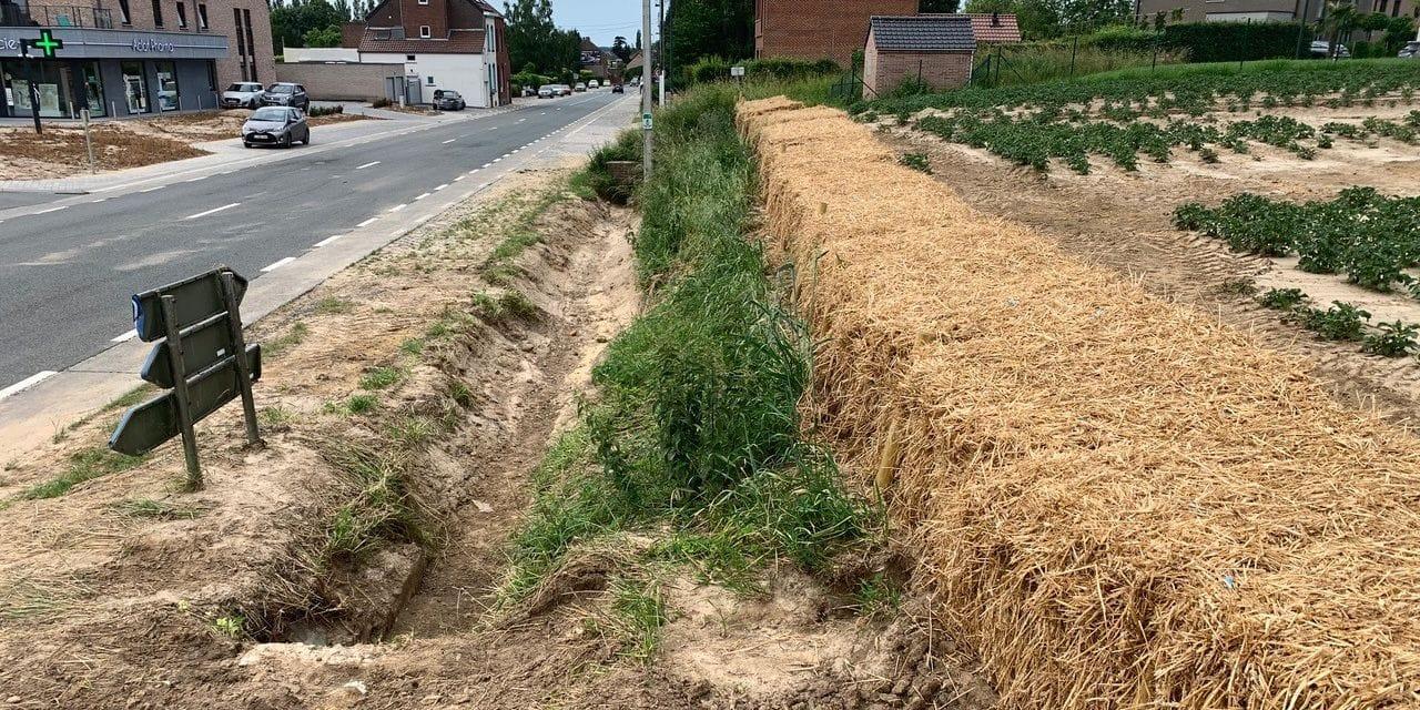 Des premières mesures urgentes dans les champs suite aux coulées de boue à Nivelles
