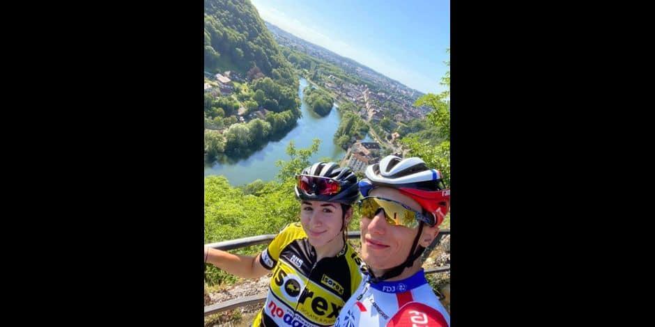 """Laura Bragano et Sylvain Moniquet unis au-delà de la passion du vélo: """"Sylvain est un grimpeur et je suis son contraire, une rouleuse"""""""