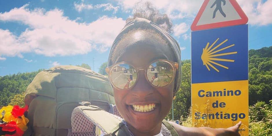 Cécile Djunga a fait le chemin du pèlerinage de Compostelle !