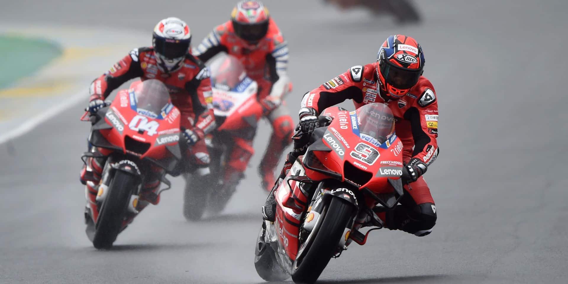 MotoGP: une deuxième victoire pour Petrucci et une superbe performance (déjà) d'Alex Marquez