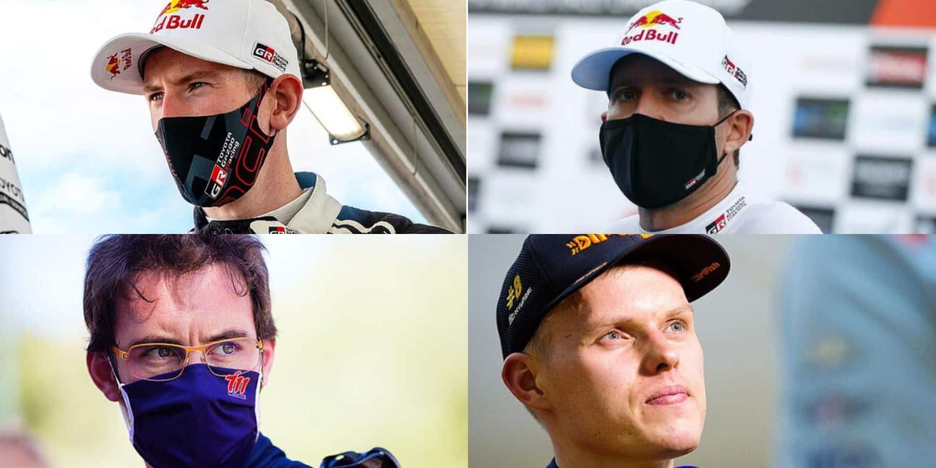 Evans, Ogier, Neuville et Tanak: un fauteuil de champion pour quatre concurrents en WRC