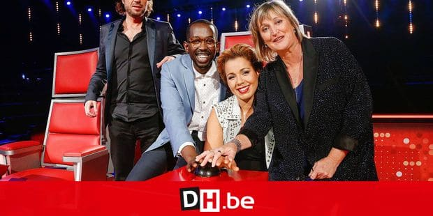 20141029 - LIEGE, BELGIUM: the members of the jury Stanislas, Jali, Chimene Badi and BJ Scott are pictured during a press conference about the new season of television show 'The Voice Belgique', by Belgian French-speaking television station RTBF, in Liege, Wednesday 29 October 2014. BELGA PHOTO THIERRY ROGE