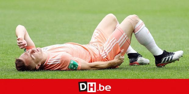 Anderlecht's Adrien Trebel is injured during a soccer match between KAA Gent and RSC Anderlecht, Sunday 19 May 2019 in Gent, on the tenth and last day of the Play-off 1 of the 'Jupiler Pro League' Belgian soccer championship. BELGA PHOTO VIRGINIE LEFOUR