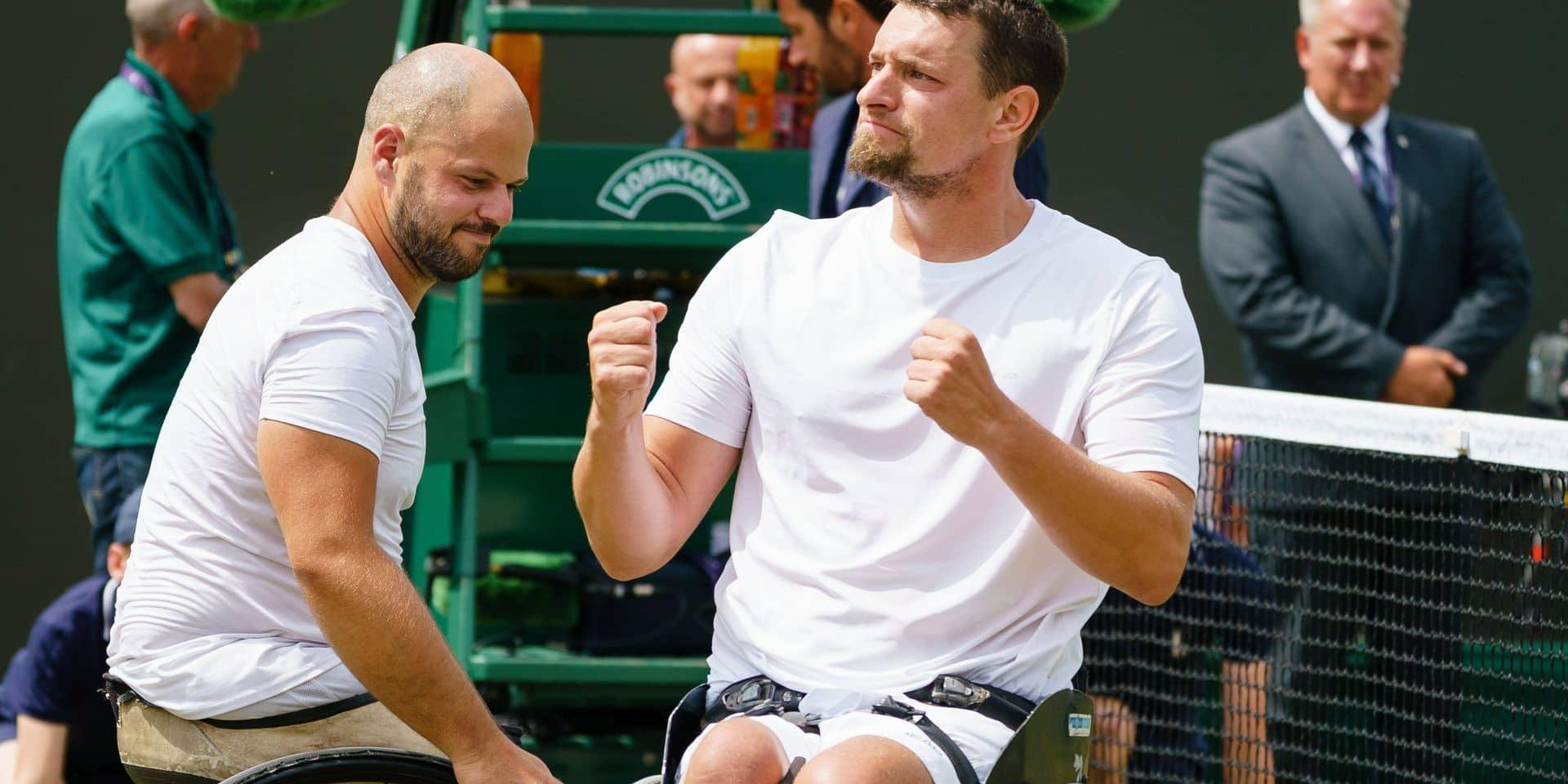 """""""Calme et concentré"""", Joachim Gérard en route pour sa première finale de simple à Wimbledon"""