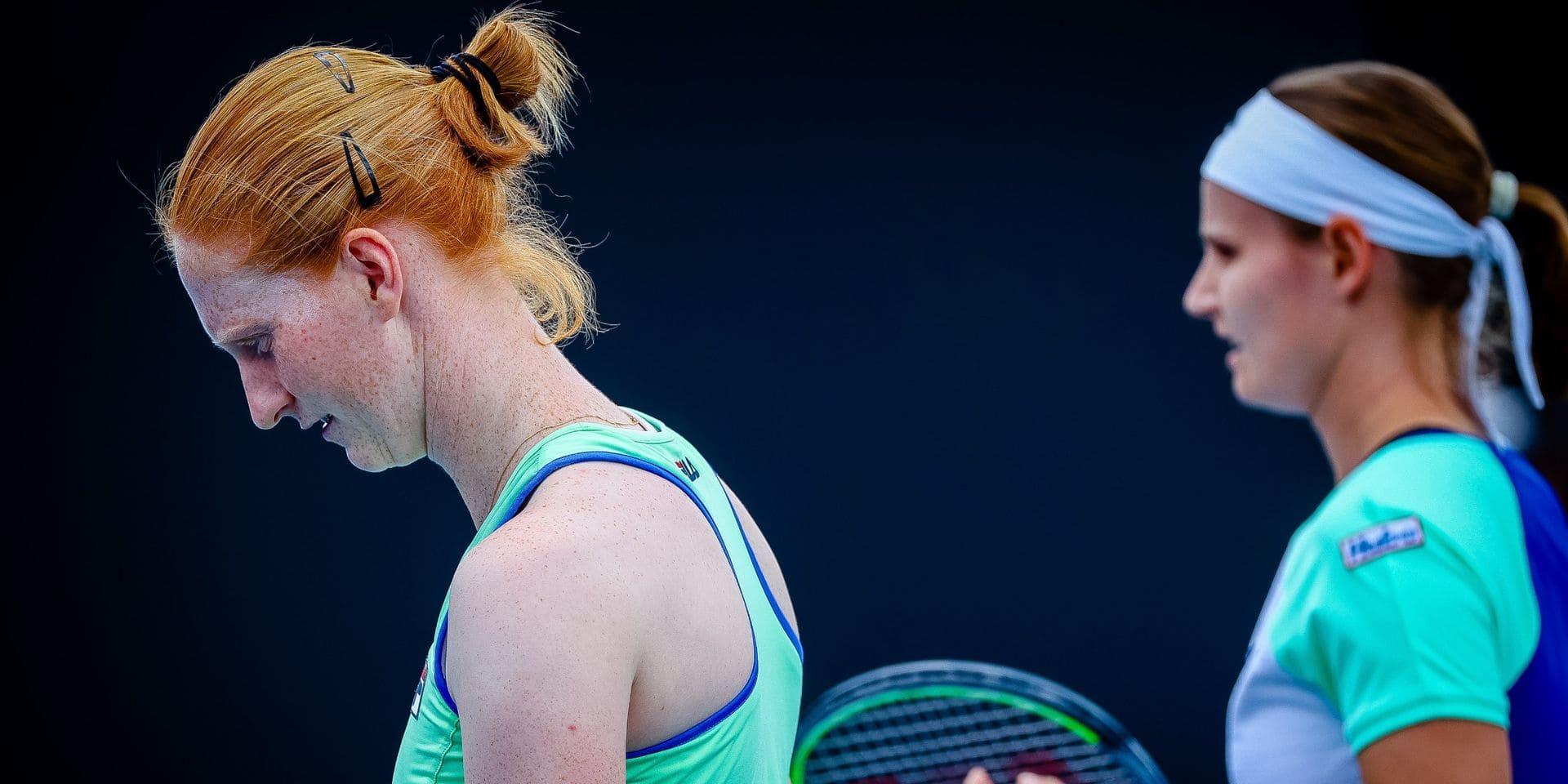 """Alison Van Uytvanck battue, mais """"contente d'avoir réussi à mener la vie dure à Kvitova"""" à Saint-Pétersbourg"""