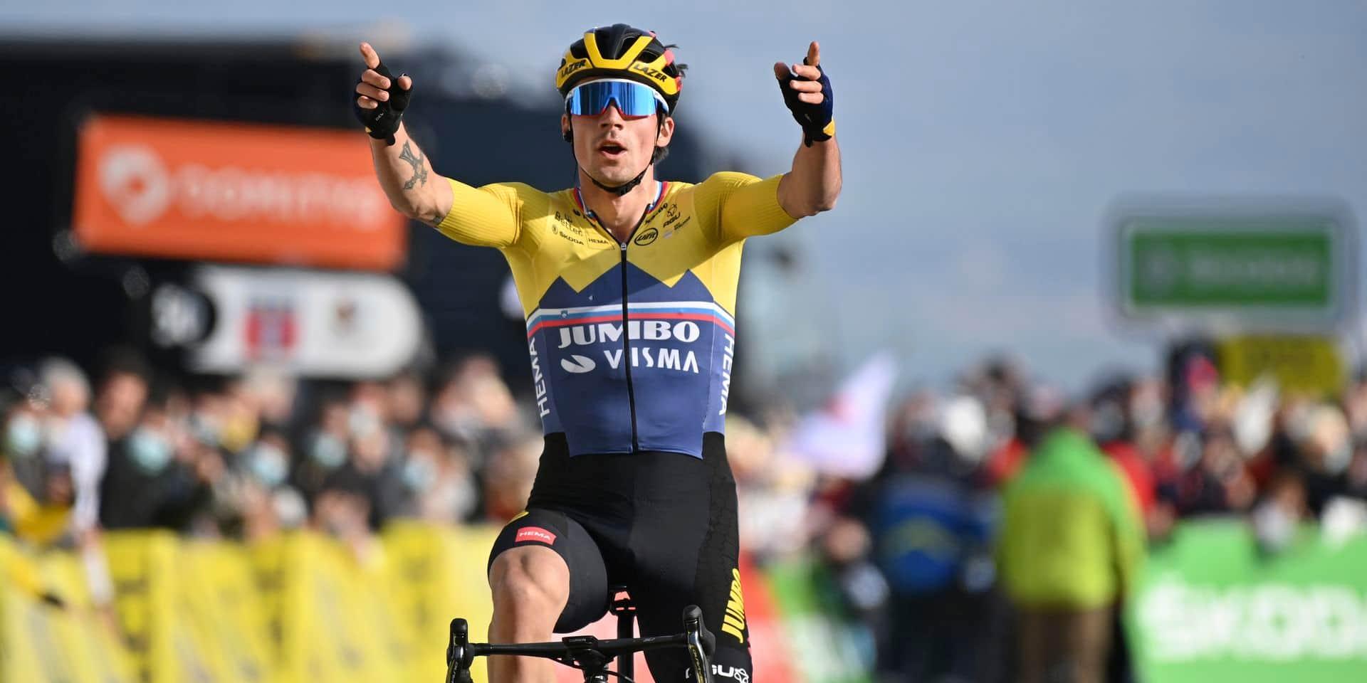 """Roglic retrouve le maillot jaune: """"Nous sommes optimistes"""""""