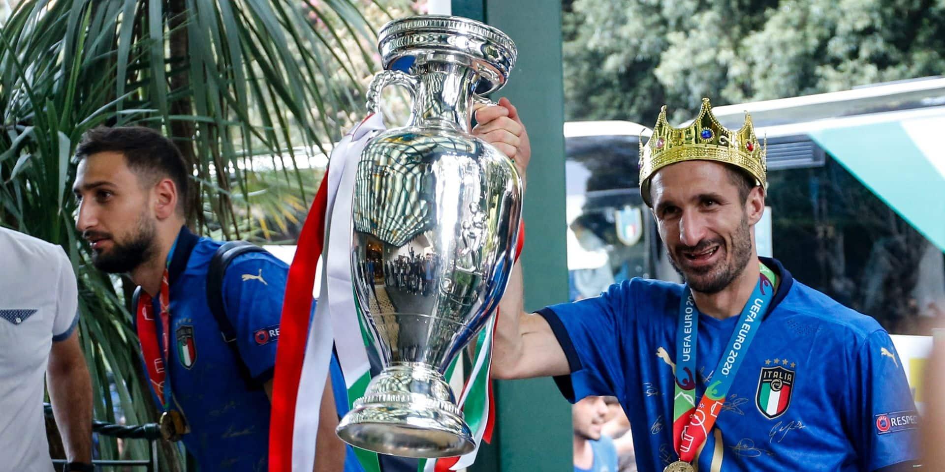 """Chiellini aux anges après la victoire de l'Italie: """"Nous avions Gigi, maintenant nous avons Gigio"""""""