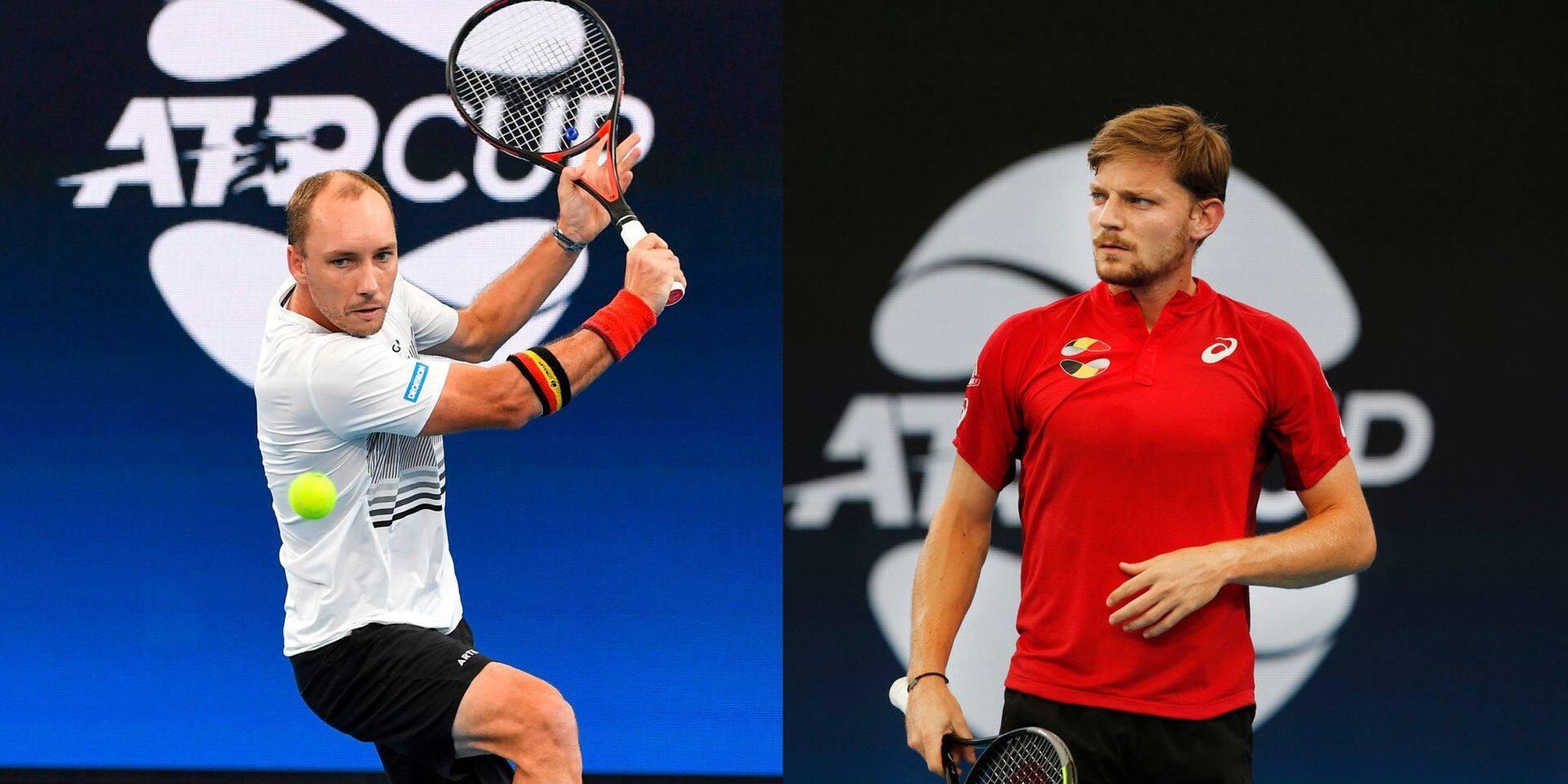 Steve Darcis déjà le chouchou, Goffin tient son rang: retour sur la 1ère journée de l'ATP Cup