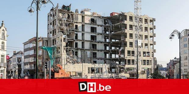 Bruxelles - tervuren immeuble demoli