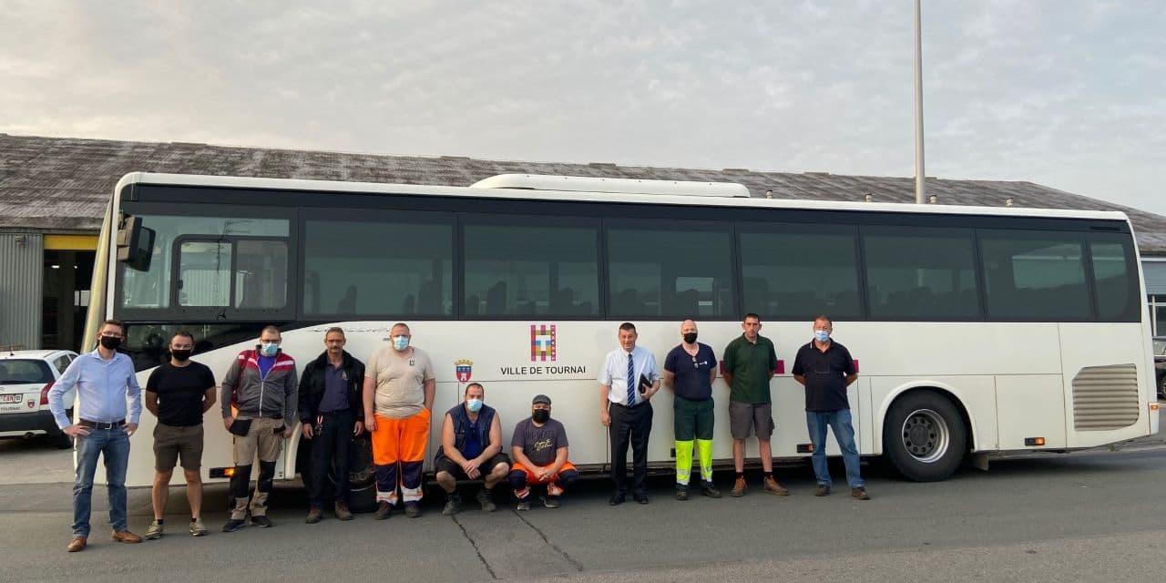 Tournai: les ouvriers viennent en aide aux sinistrés