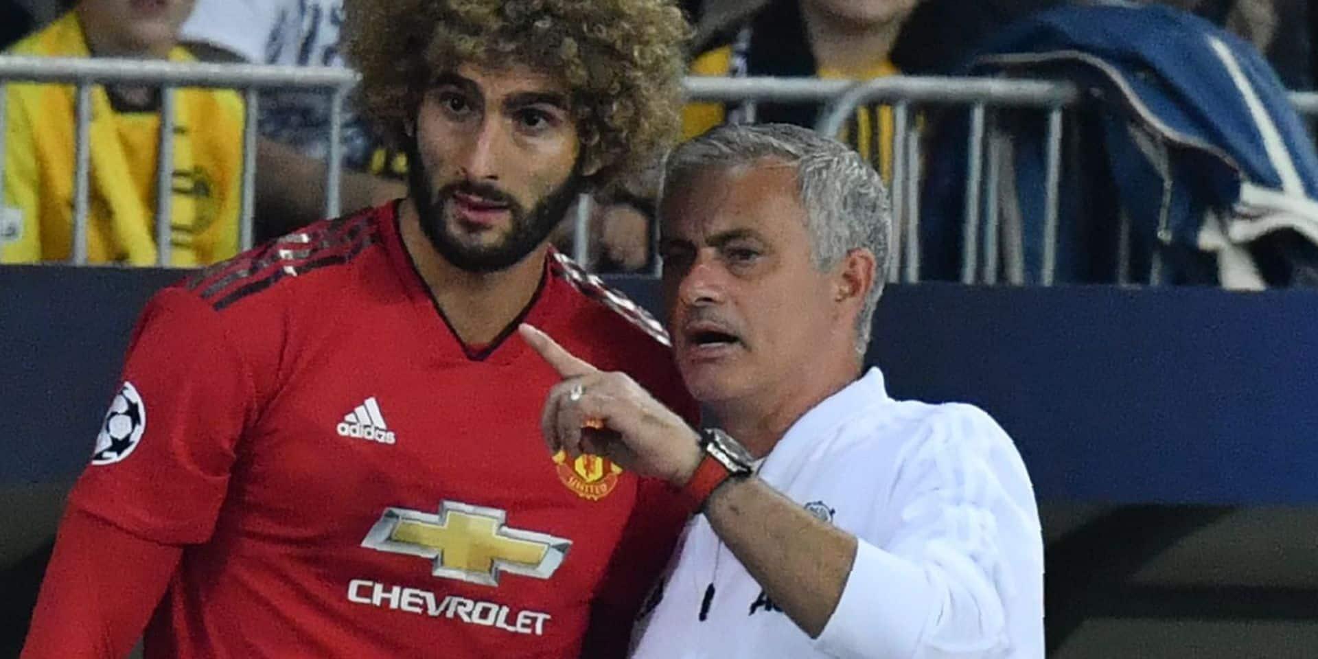 """Fellaini raconte le speech de Mourinho à la mi-temps contre Newcastle: """"Il nous a demandé d'être des hommes"""""""