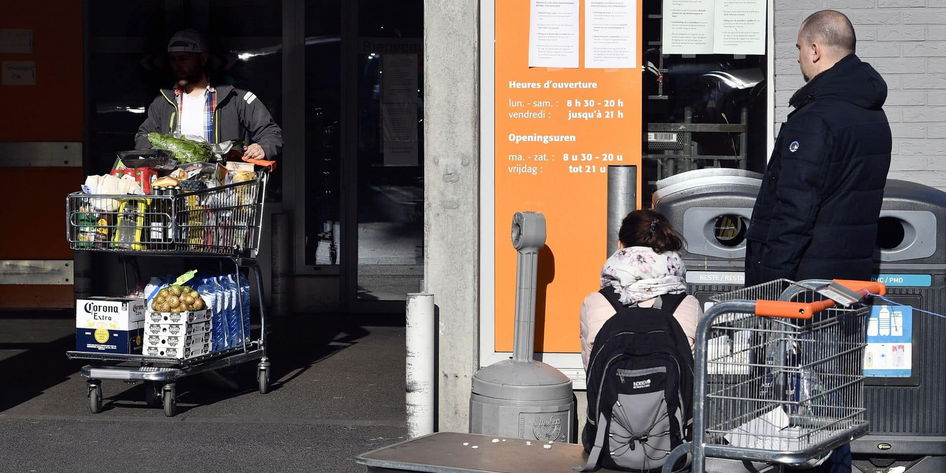 La situation se normalise dans les supermarchés belges: plus de nouvelle ruée ni de débordements