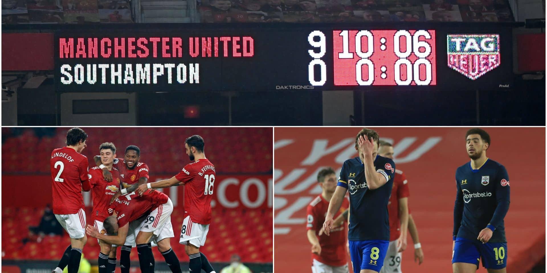Les chiffres fous de l'incroyable carton de Manchester United contre Southampton