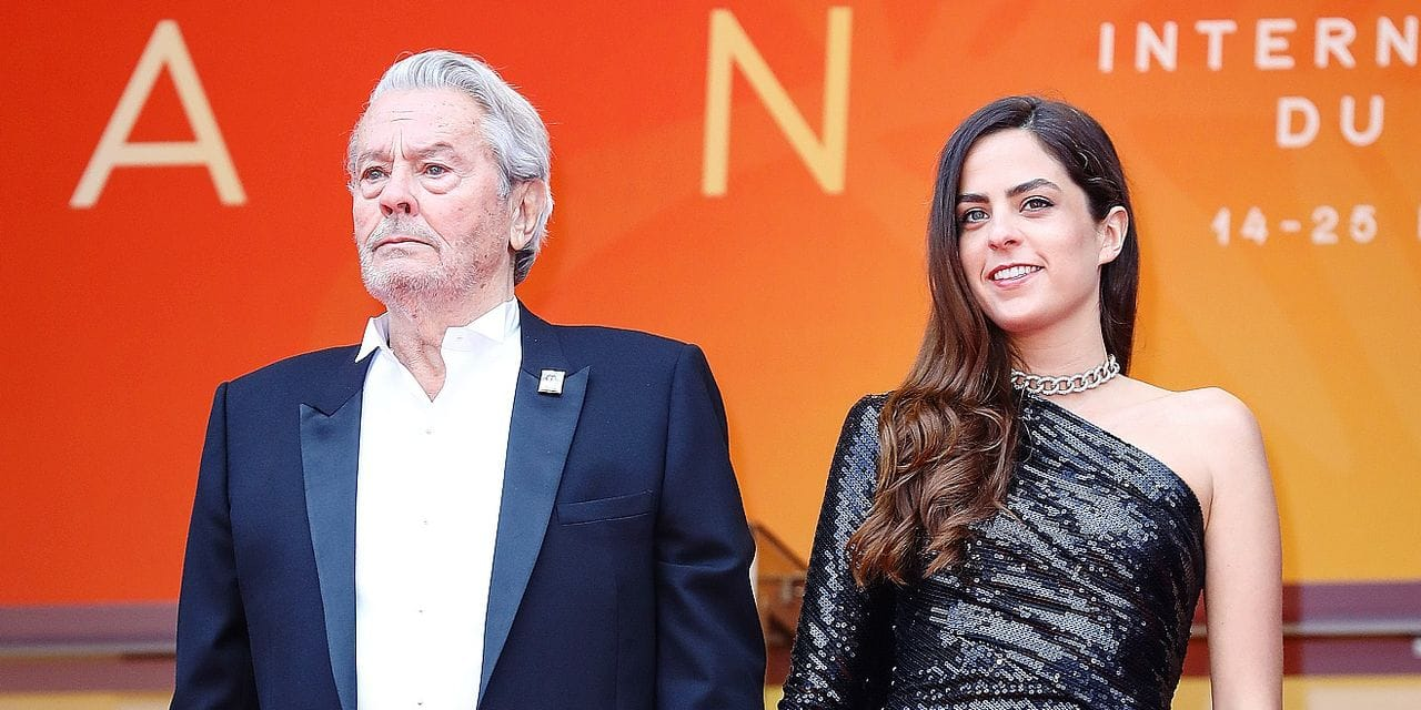 """Alain Delon attends the screening of """"A Hidden Life (Une Vie Cachée)"""" during the 72nd annual Cannes Film Festival on May 19, 2019 in Cannes, France."""