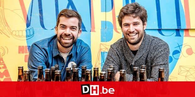 Belgium, Brussels, Oct. 20, 2015 - Presentation of three new beers by brewery Brussels Beer Project - Olivier de Brauwere & Dimitri Van Roy © Danny Gys / Reporters Reporters / GYS
