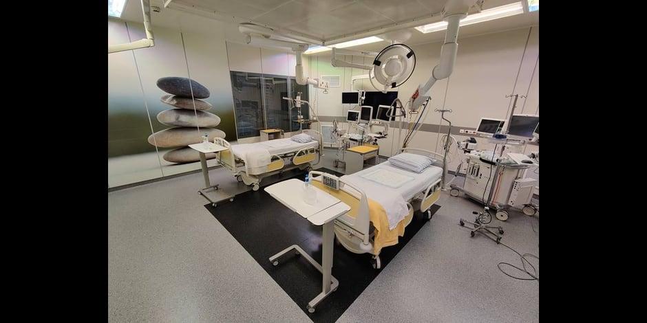 Un bloc opératoire transformé en lits de soins intensifs au CHR de la Citadelle !