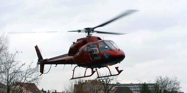 Frameries: il stationne son hélicoptère dans le jardin...