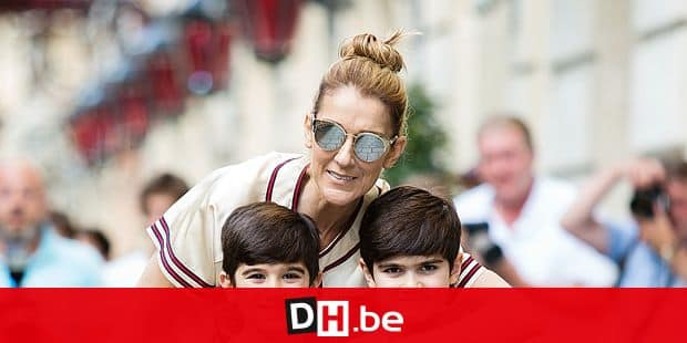 Celine Dion and her twins Eddy and Nelson Angelil leaving their hotel to Optician Meyrowitz in Paris, France on July 17, 2017. Photo by Nasser Berzane/ABACAPRESS.COM Reporters / Abaca