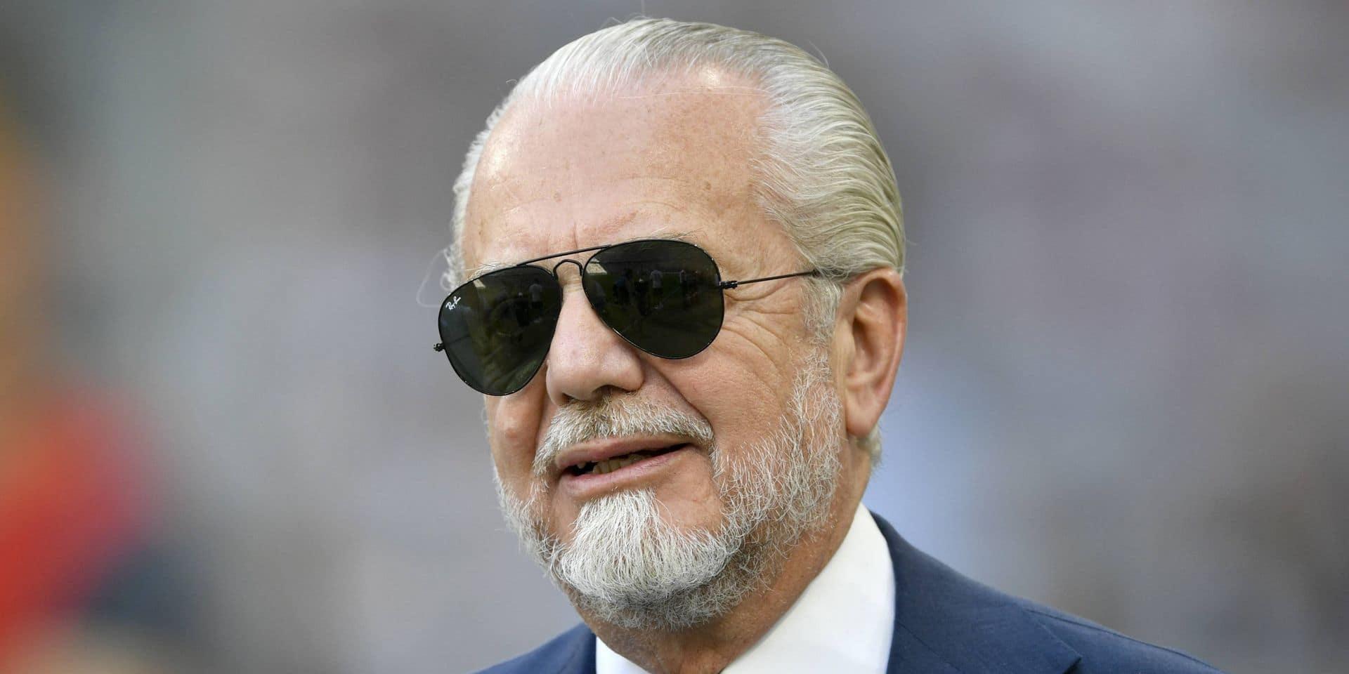 Le président du SSC Napoli testé positif au coronavirus