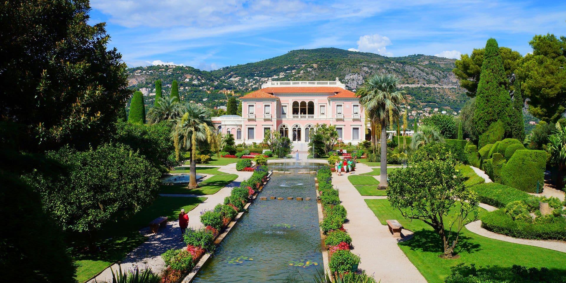 Villa,Ephrussi,De,Rothschild,And,Gardens,On,The,French,Riviera.