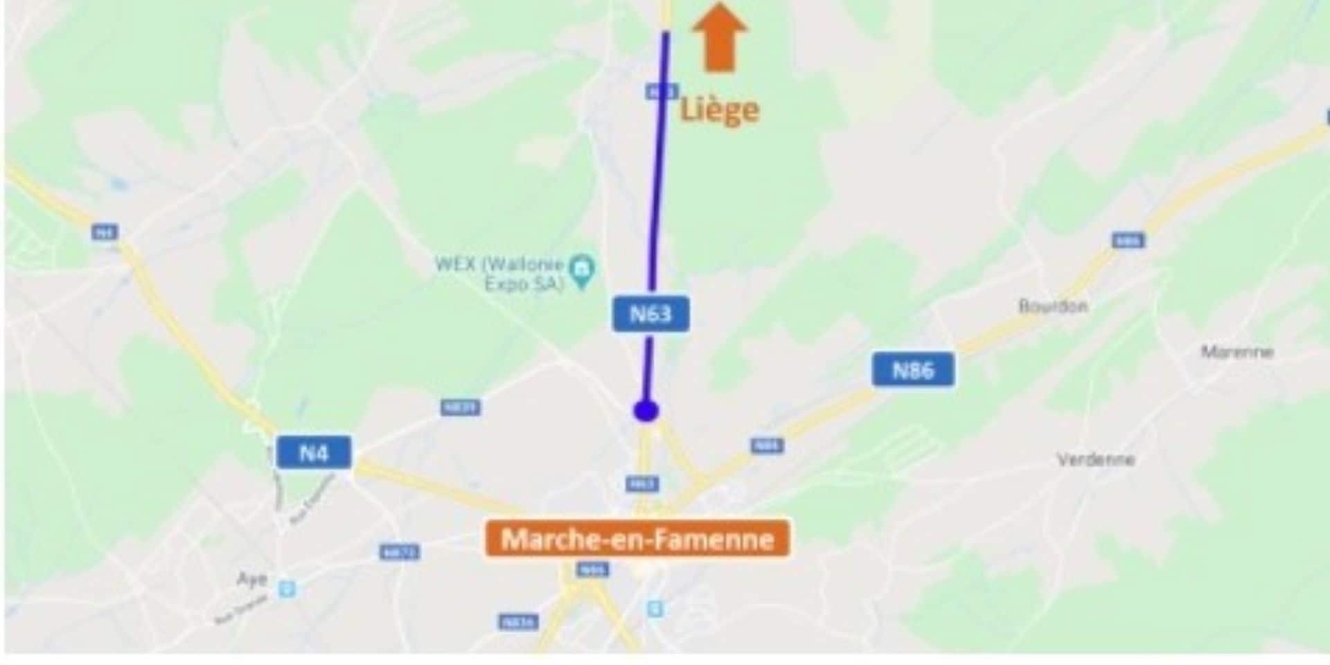 Marche-en-Famenne : la réfection du rond-point à l'entrée de la ville est reportée