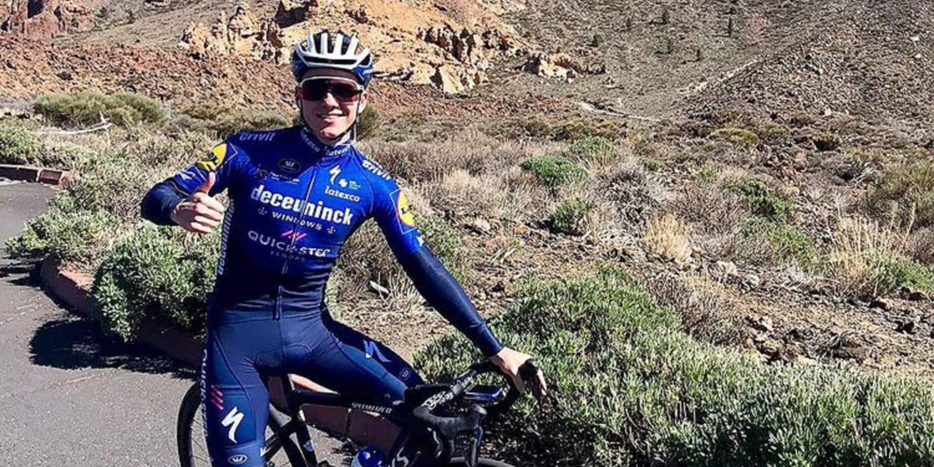 """Evenepoel dans la Sierra Nevada pour préparer le Giro: """"Tout se déroule comme prévu"""""""