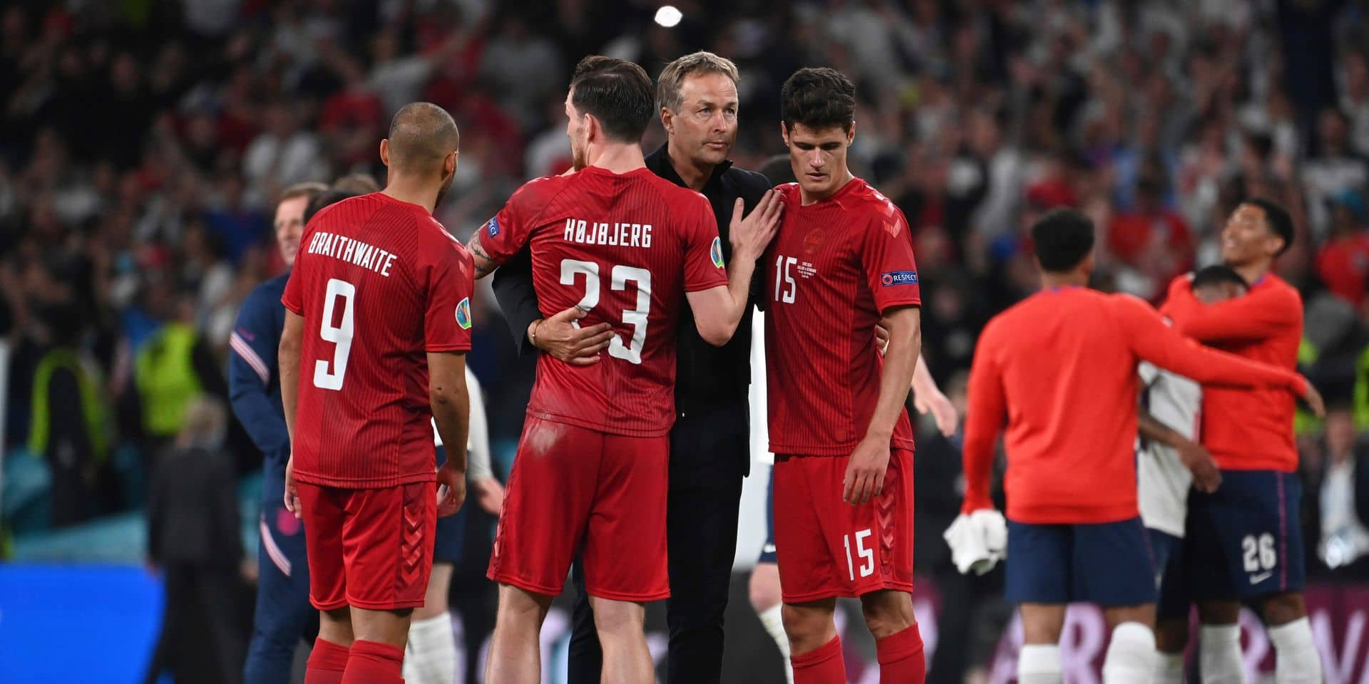 Soccer EURO 2020 semi-finals / England - Denmark 2: 1 nV.