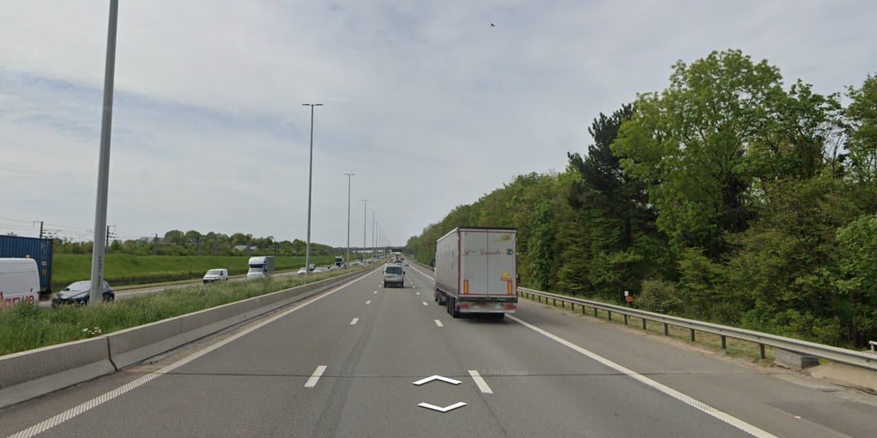 Travaux sur la bretelle de l'E40 à Woluwe-Saint-Etienne