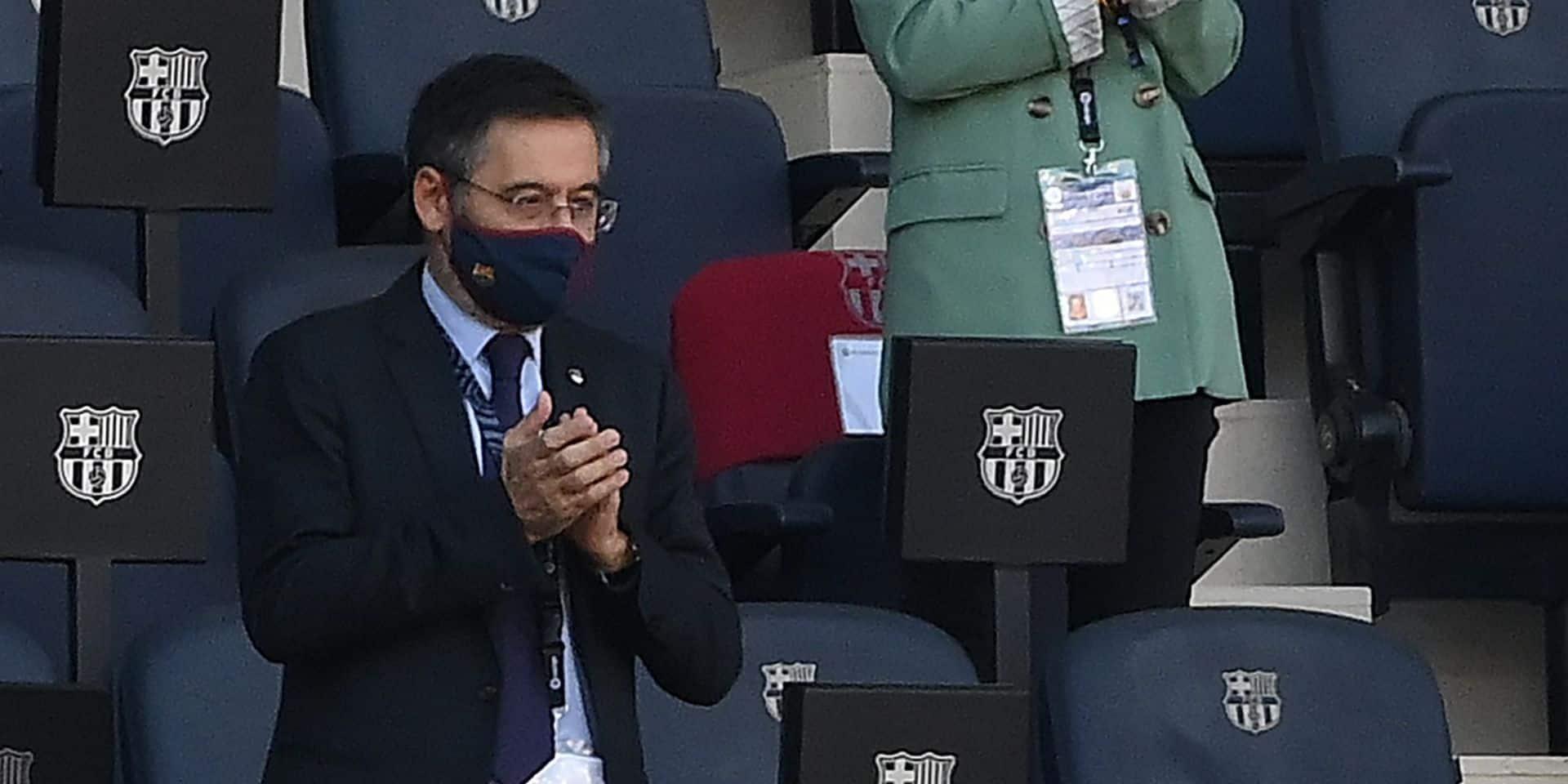 """""""Il n'y a pas de raisons de démissionner"""", assure Bartomeu, le président décrié du FC Barcelone"""