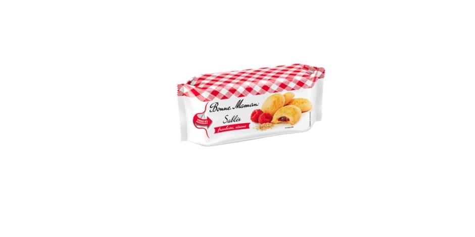 Les biscuits sablés framboise de la marque Bonne Maman retirés de la vente