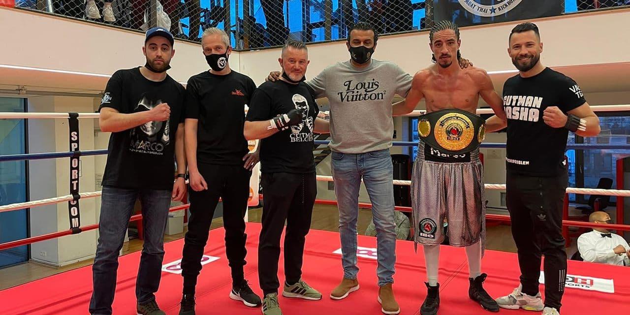 """Mohamed El Marcouchi récupère la ceinture IBO Continental: """"Une des plus grandes émotions de ma vie"""""""