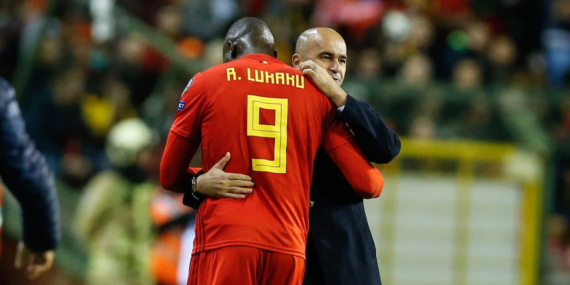 """Roberto Martinez en a assez des critiques envers Romelu Lukaku: """"C'est un buteur, on lui demande de marquer et il le fait bien"""""""