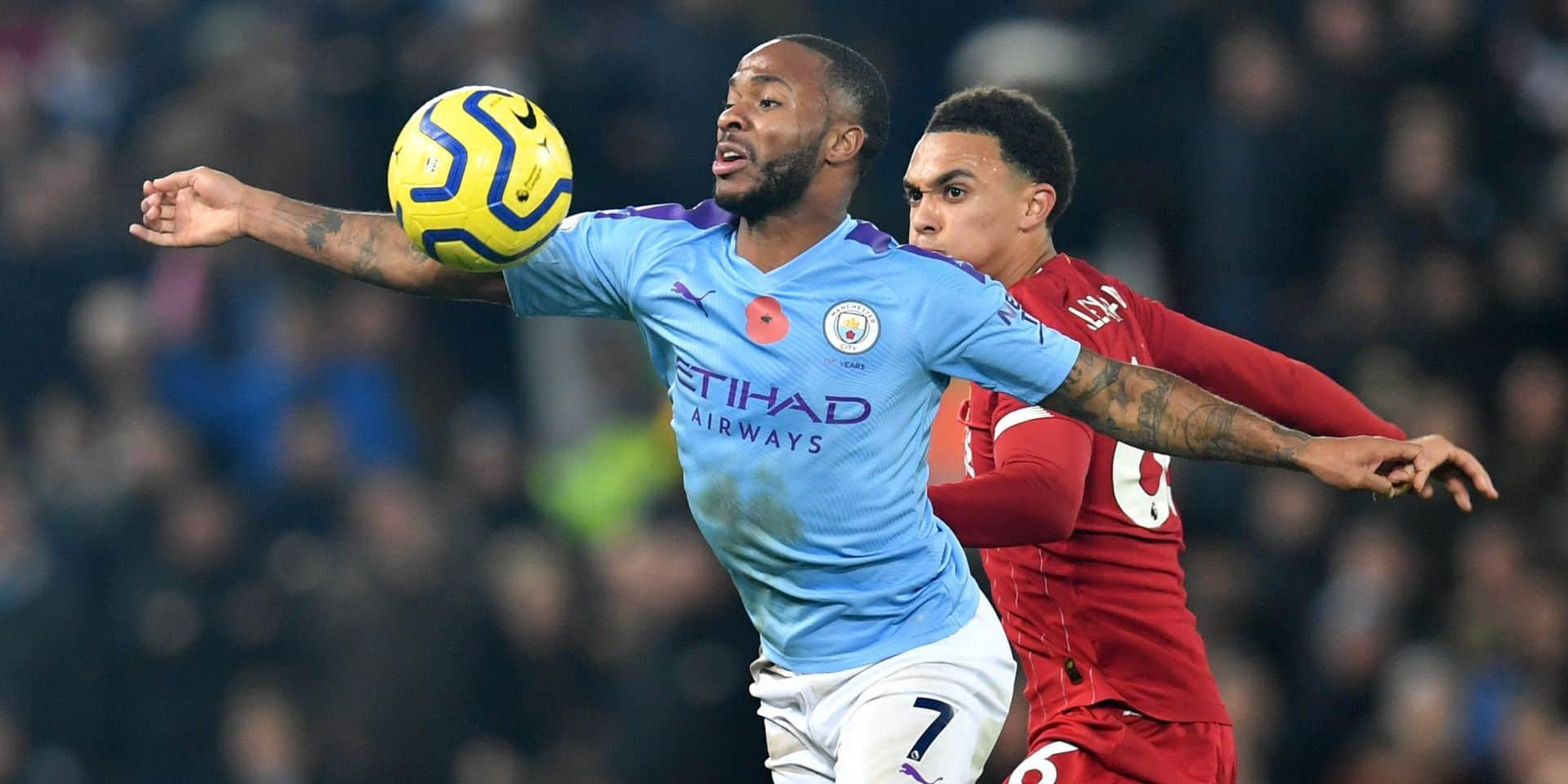 """Sterling écarté de la sélection anglaise après une altercation : """"Les émotions du match entre City et Liverpool étaient encore vives"""""""