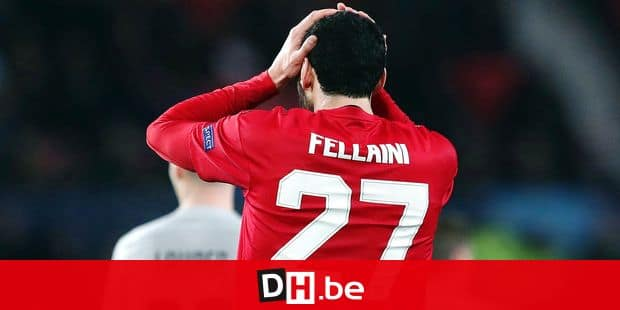 ManU midfielder Marouane Fellaini reacts after being caught offside during the Champions League group H soccer match between Manchester United and Young Boys at Old Trafford Stadium in Manchester, England, Tuesday Nov. 27, 2018. (AP Photo/Jon Super)