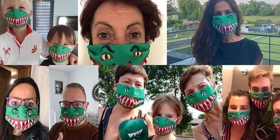 Mons: une chaîne solidaire et masquée pour célébrer le Doudou