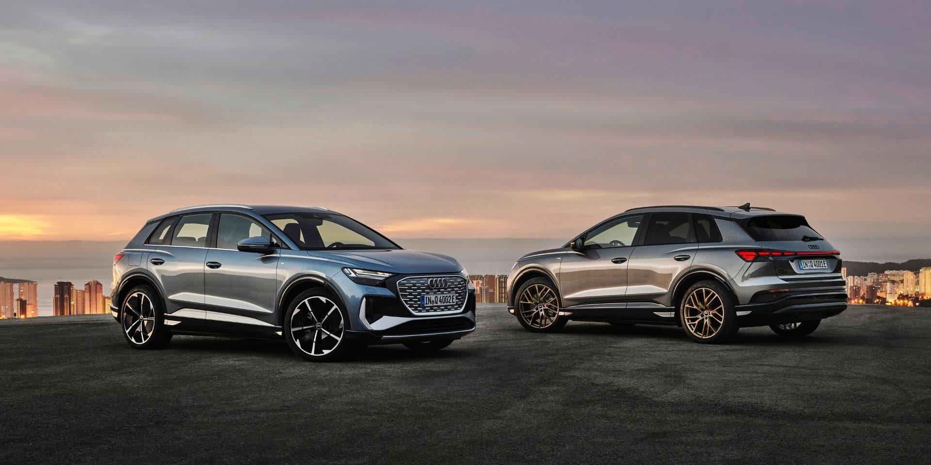 Audi dévoile les Q4 e-tron et Q4 Sportback e-tron, ses SUV compacts électriques