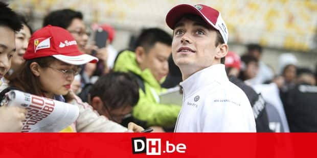 LECLERC Charles (mco), Alfa Romeo Sauber F1 Team C37, portrait autograph session, during 2018 Formula 1 FIA world championship, China Grand Prix, at Shanghai from April 13 to 15 Shanghai: Motorsports: Formula 1 2018 Heineken Chinese Grand Prix Chinese Formula One Grand Prix Shanghai Circuit April 13, 2018 in Shanghai, China Reporters / DPA
