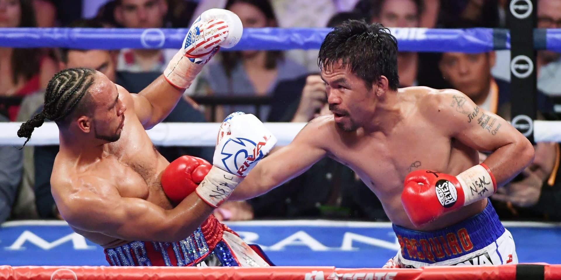 Boxe: Pacquiao surpasse Thurman et s'empare de la ceinture WBA des welters