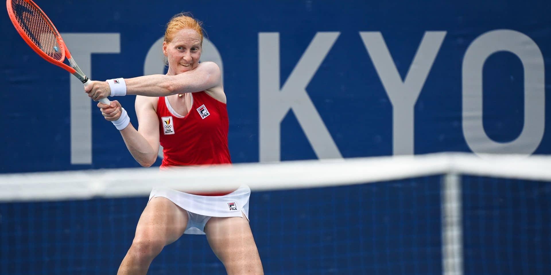 """Van Uytvanck se qualifie pour les demi-finales à Nur Sultan: """"J'ose être plus entreprenante, venir conclure au filet"""""""